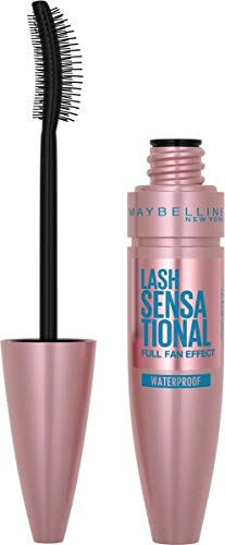 Maybelline New York Mascara für Volumen und Definition, Wasserfest, Lash Sensational, Very Black, 9,5 ml
