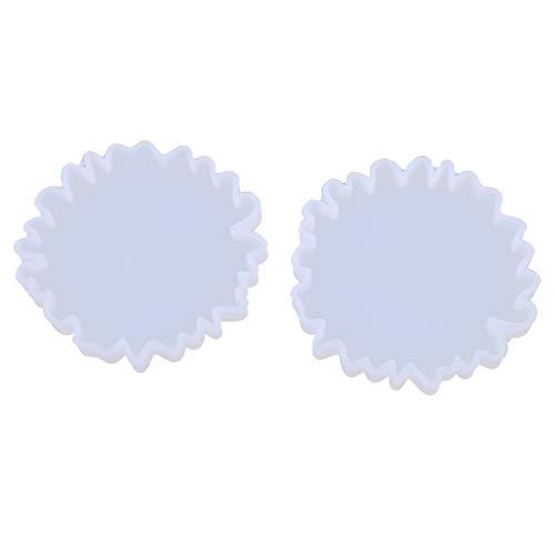 ZChun Coaster Molde de Silicona, Irregulares montaña Forma del Espejo DIY epoxi UV Resina Forma cristalina decoración Forma del Ornamento Superior