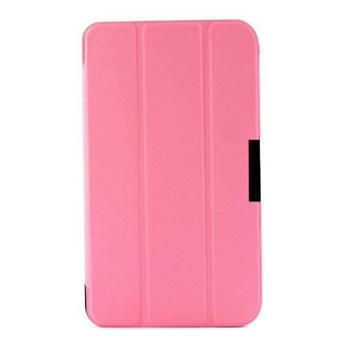 Schutzhülle für Asus Fonepad 7 FE375CG FE7530CXG K019 K01Q 7 Zoll (17,8 cm) Tablet Cover Ultra Slim Folio Stand Sleep/Wake Up Lederhülle für ASUS MeMO Pad 7 LTE ME375CL (Pink)