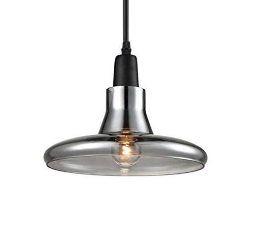 Créatif Verre Clair Luminaire Suspendu-Industriel E27 Shade LED Coffeeshop Bar Chambre(Ampoule Non Incluse)