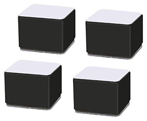 Patas de muebles Pies Mesa Piernas Longitud 6cm Ascensor Ascensores de muebles, Rústicas de acero al carbono, Autoadhesivo Muebles de servicio pesado Pasadoras, Camas Sofás Gabinetes Soporta a los ele