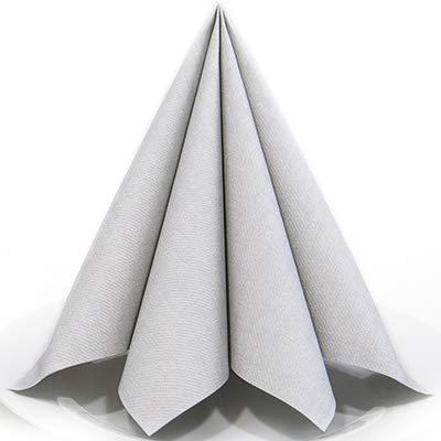 Servietten Harry silber Premium Airlaid, STOFFÄHNLICH   25 Stück   40 x 40 cm   Hochzeitsserviette   hochwertige Serviette für Hochzeit, Geburtstag, Feier, Party, Taufe, Kommunion   made in Germany