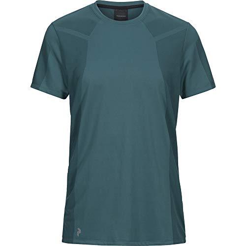 Peak Performance Men Map Tee Vêtements De Course T-Shirt Petrol - Black M