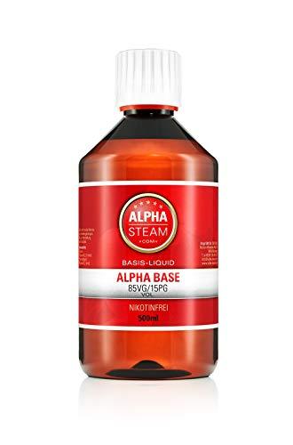 Alpha Base 50/50 500ml zum Mischen von E-Zigaretten Aromen 0mg/ml (ohne Nikotin)