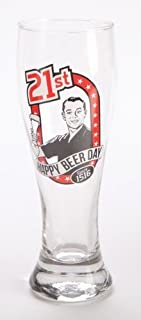 Personalised Retro Pilsner Birthday Age Beer Glass 18th 21st 30 40 50 Man Gift (Age 21)