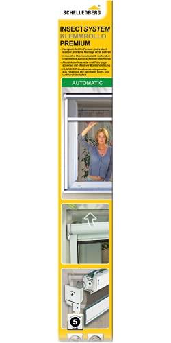 Schellenberg 50825 Insektenschutz-Klemmrollo Premium, Fliegengitter Rollo für Fenster, Braun