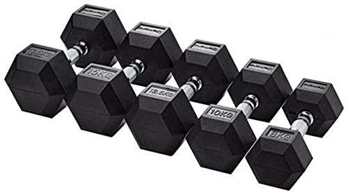 G5 HT SPORT Manillar Hexagonal engomado Profesional TOORX de 1 a 50 kg Pesista Palestras (6 kg)