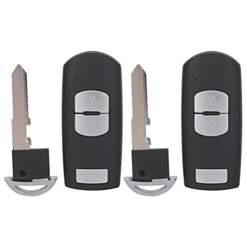OCPTY 2 PCS Flip Key Entry Remote Control uncut Key Fob Transmitter Replacement 18 19 for M azda CX-3/for M azda CX-5/for M azda CX-9 WAZSKE13D02 315MHz