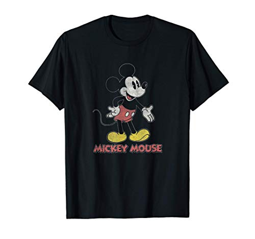 Disney Mickey Transparent Standing Body Camiseta
