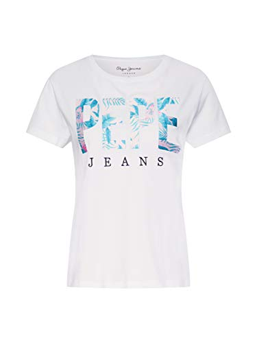 Pepe Jeans Maria Pl504083 Camiseta, Blanco (Optic White 802), X-Large para Mujer