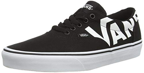 Vans Herren Doheny Sneakers, Schwarz ((Big Logo) Black/White Ryh), 46 EU