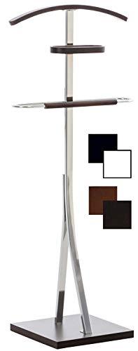 Galán De Noche Navan Hecho En Metal Cromado I Perchero De Pie para Dormitorio Moderno I Perchero Unisex 109x46x30 cm I Color:, Color:wengué