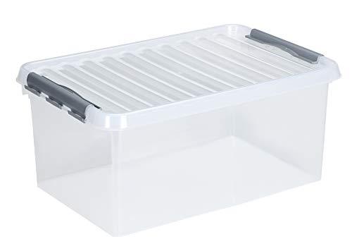 3 x SUNWARE Q-Line Box - 45 Liter - 60 x 40 x 26cm - transparent/metallic