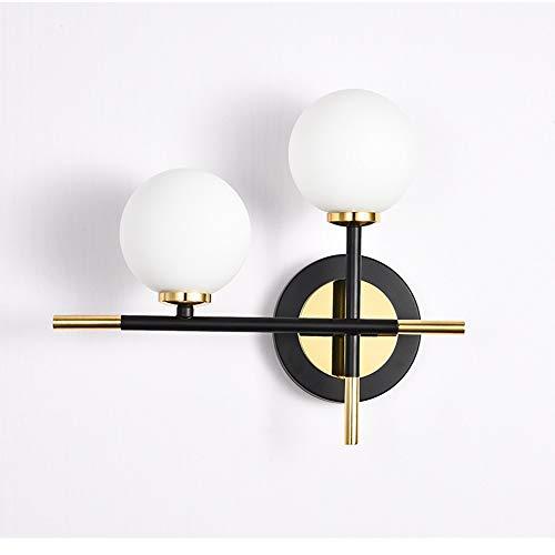 DKEE Luces de Pared Lámpara de Pared nórdica Minimalista Moderna lámpara de Pared de Bola de Vidrio Esmerilado Pasillo de Estudio Pasillo Escalera Dormitorio Sala de Estar lámpara de Pared