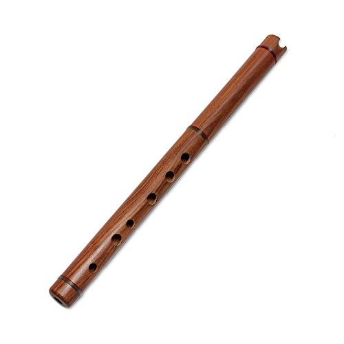 NOVICA Decorative Wood Traditional Peruvian Quena Flute, Brown, Jacaranda'