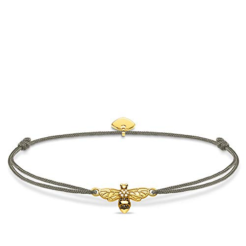 THOMAS SABO Damen-Armband Little Secret Biene 925 Sterling Silber Gelbgold LS081-379-7-L20v