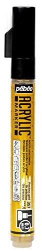 Pébéo 201357 Marqueur acrylique Pointe ronde 0,7mm Or précieux