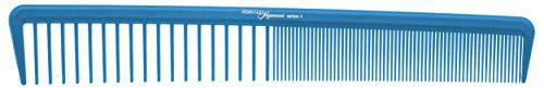 Hercules Sägemann HS C8 carbon 8 Profi Haarschneidekamm blau Haarkamm (antistatisch) Carbonkamm mit 2 Zahnungen fein + sehr grob/weit, 7,5 Zoll, Haar-Bart-Kamm (8b)