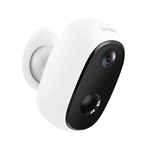 Überwachungskamera mit Akku 10000mAh,1080P kabellose Outdoor WLAN IP Kamera mit PIR-Bewegungserkennung,Verbesserte Akku Qualität,2-Wege-Audio,Nachtsicht,integrierter SD-Steckplatz,IP65 wasserdicht