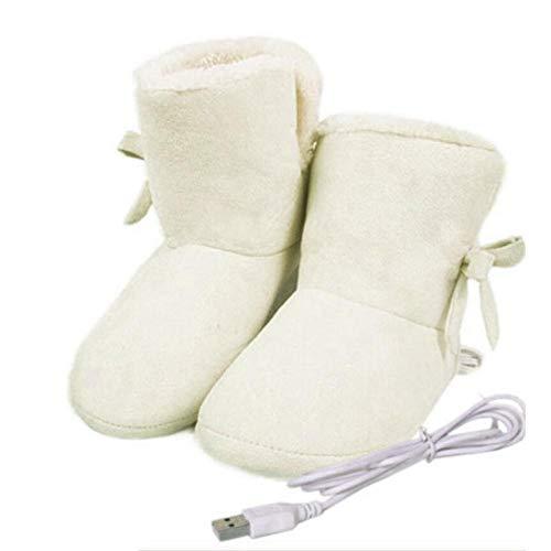 zaote Scarpette riscaldate per scaldapiedi Scarpette riscaldate elettriche USB Scarpette riscaldabili Rimovibili e Lavabili Pantofole riscaldanti per Donna Donna Excitement