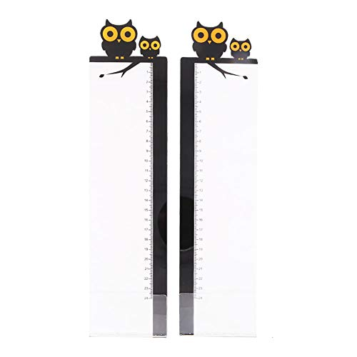 Pack of 2 Left & Right Cartoon Computer Monitors Side Panel/ Memo Pads/ Sticky Boards /Message Board/Notes Holder for Computer Screen(Owl)