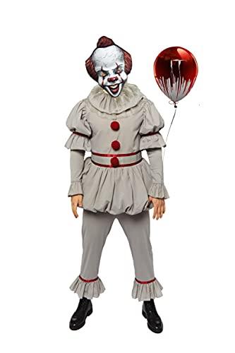 Official Licensed Warner Horror IT Clown Adult Mens Halloween Fancy Dress Costume