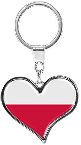 metALUm | Schlüsselanhänger Herz Metall Flagge Polen 6611039