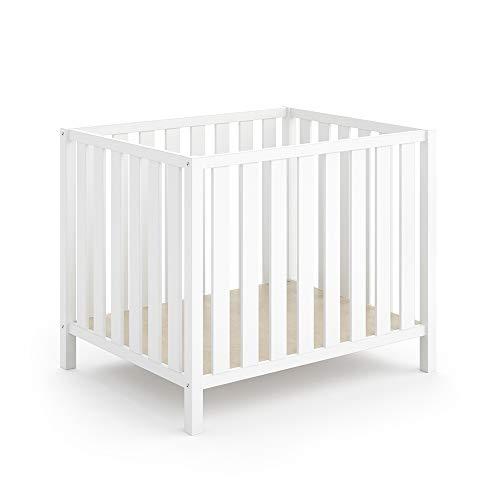 Vitalispa 2in1 Laufgitter Marie Laufstall Baby Krabbelgitter Holz 80x100cm (Weiß)