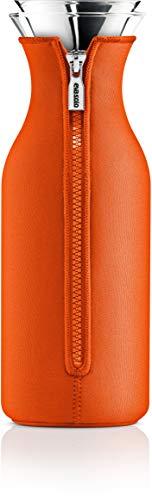 Eva Solo, 567959, Carafe en verre avec revêtement en filet, Acier Inoxydable, 1 litre, Fridge carafe, Tangerine, Orange