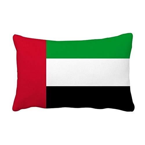 DIYthinker Vereinigte Arabische Emirate National Flagge Asien Land Lumbar Kissen Kissenbezug Startseite Dekor-Geschenk Werfen 16 Zoll x 24 Zolls Mehrfarbig