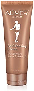 Self Tanner with Organic and Natural Ingredients,No Streaks Bronzer Fake Tanning Lotion - Instant Fake Tan Sunless Tanning Lotion for Flawless Darker Bronzer Skin Body Makeup (cream)