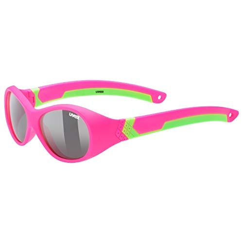 uvex Unisex Jugend, sportstyle 510 Sonnenbrille, pink green/smoke, one size