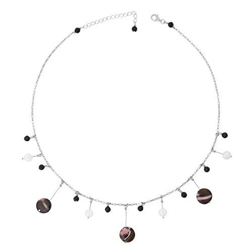 Orphelia Jewelry Damen-Halskette mit Anhnger 925 Sterling Silber natrlichen Elementen 42cm ZK-2588