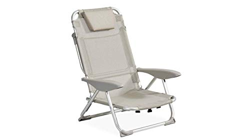 Clic Clac des plages by Innov'Axe Fauteuil, Gris Clair