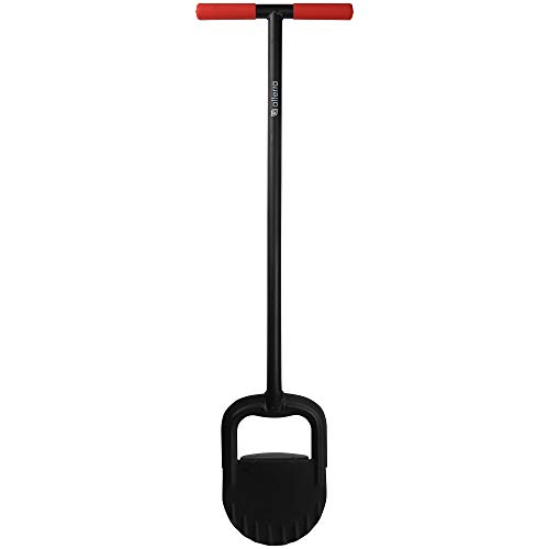 Alterra Tools Lawn Border Edger Steel Body and Arched Blade for Clean Edges Along Walkways and Beds, Black, Red