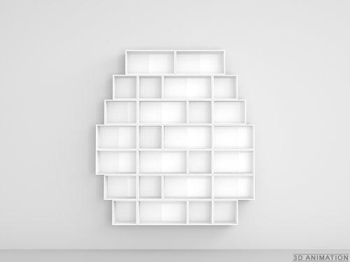 Cubit Design Regal - Modulares Regal für DVD's in weißer Lackierung