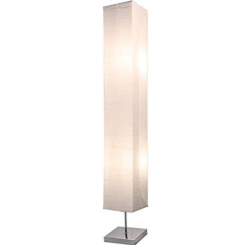 Light Accents - Lámpara de pie estilo japonés para dormitorios de 50 pulgadas de alto con pantalla de papel blanco - Lámparas de pie...