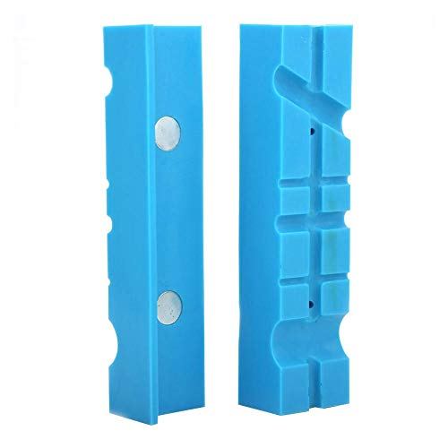 Mordazas de tornillo de banco, 2 almohadillas de mordaza de banco con mordaza magnética de múltiples ranuras, protectores suaves de mordazas, accesorios para ingeniería/armero/carpintería