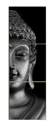 MailingArt Modern Home and Office Decor Canvas Prints Zen Art Wall Decor Buddha Picture to Photos Paintings on Canvas 3 Panels (12x12inchx3)