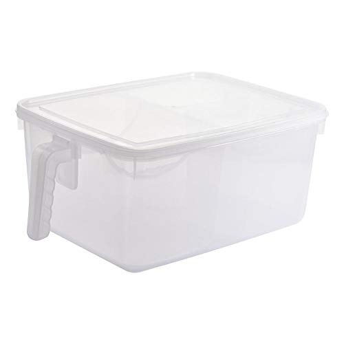 su-luoyu Großraum Kühlschrank Lebensmittel Aufbewahrungsbox Tragbarer Sicherer Kühlschrank Obstfach Behälterhalter Mit Griff Und Deckel