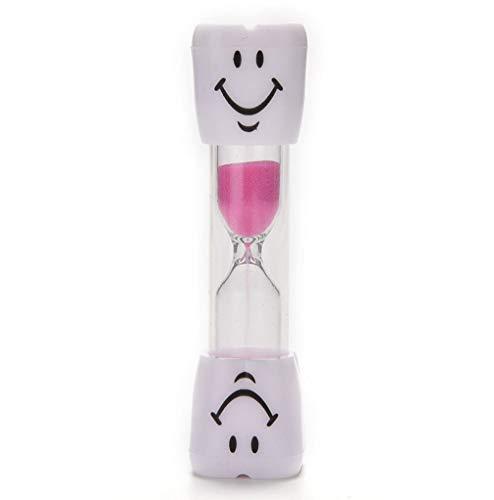 Wadoy Kinder Zähneputz Sanduhr 3 Minuten Rosa Zähneputzen der Zähne Smiley Sanduhren Küchenuhr Eieruhr Timer von SamGreatWorld