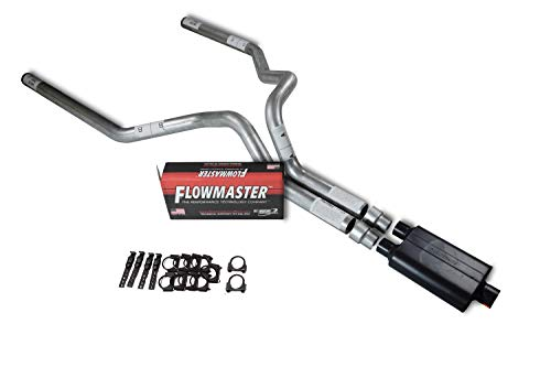 XsvFLO Exhaust Kits - Shopline dual exhaust system 3in duals AL pipe Flowmaster 40