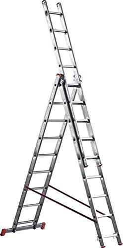 Scala alluminio telescopica Marchetti Orange 3 rampe x 7 9 11 12 gradini (3 rampe x 9 gradini)