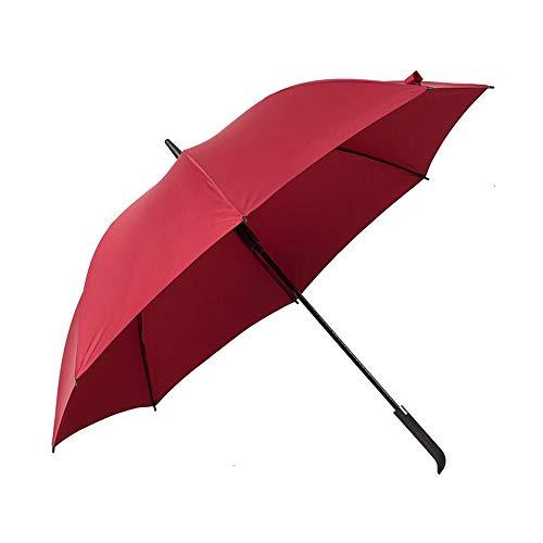 C-OT tragbar, Dreischichtiger verstärkter Rahmen mit Fiberglas-geradem Regenschirm-Auto OpenThe Bester Langer winddichter Regenschirm-Der stärkste Auto Open Black-Regenschirm für Männer und Frauen,Te