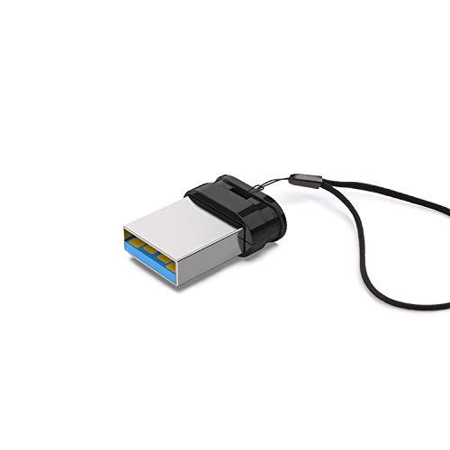 Chiavetta USB 3.0 Mini da 32 GB, Vansuny Pendrive USB 32GB 3.0 Musica, Memoria Esterno Penne USB Flash Drive con Cordino Portatile per Laptop PC TV (Nero)