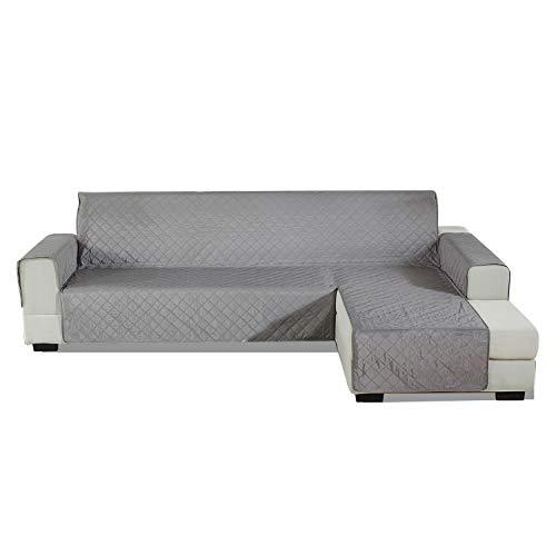 PETCUTE Funda Sofa Chaise Longue Acolchada Protector de sofá con Chaise Brazo Derecho Cubre Chaise Longue Fundas sofá Impermeables 240x270cm