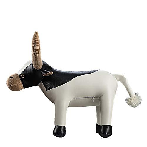 YDOZ Juguetes Granja Aves de Corral Kawaii simulación Vaca Ganado Toro Becerro plástico Animal Modelo figurilla Juguete Figuras casa decoración Regalo para niños (Color, Height : 40cm)