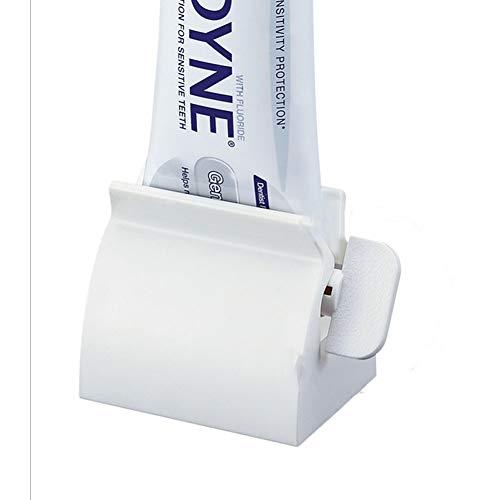 Isuper Kreative Zahnpasta, Zitruspresse für Zahncreme, Zahnpasta-Entsafter, Halterung in Weiß