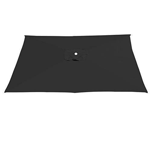 Strong Camel Replacement Canopy Cover for 10' X 6.5' Cantilever Patio Umbrella Offest Parasol Top Replacement (Black)