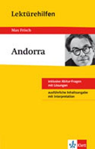 Klett Lektürehilfen Max Frisch Andorra: für Oberstufe und Abitur - Interpretationshilfe für die Schule
